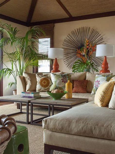 Decorating Ideas Using Palm Fronds 25 Best Ideas About Tropical Living Rooms On