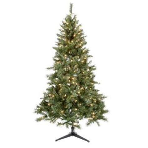 home depot 6 5 ft pre lit aster pine tree clear