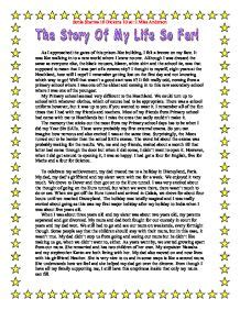 My Story Essay by Essay Writing Unit