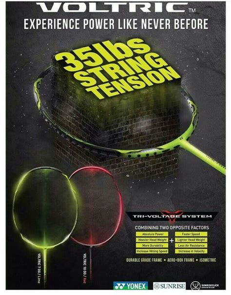 Raket Badminton Yonex Voltric 7dg jual raket badminton yonex voltric 7dg max tens 35 lbs
