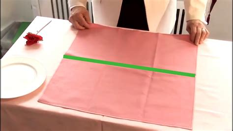 how to fold napkins for a dinner how to fold a dinner napkin as a fan 9 steps with pictures