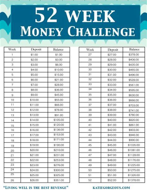 printable version of the 52 week money challenge 7 best images of 52 week money challenge printable chart