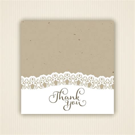 vintage thank you card vintage style thank you card vector free download