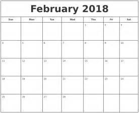 Calendar 2018 February Printable April 2018 Calendar Maker