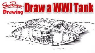 how to draw a ww1 tank youtube