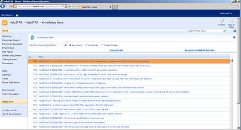 knowledge base design template sharepoint knowledge base search