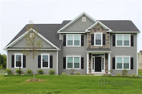 Here Is Our Augusta House Design With Our Most Popular Siding Color Keystone With