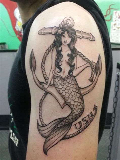 mermaid and anchor tattoo designs anchor mermaid pictures to pin on