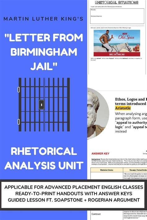 Letter From Birmingham Soapstone - rhetorical analysis bundle martin luther king s quot letter