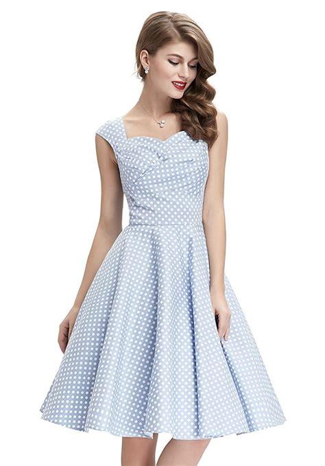 Dress Polka White Blue blue polka dot dress all dress