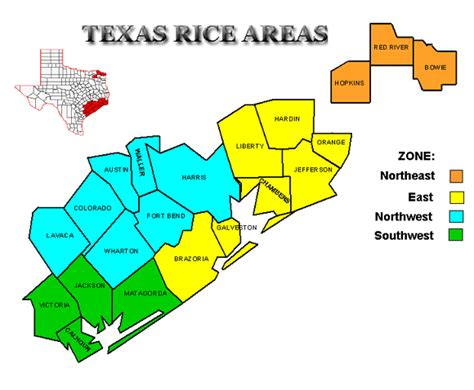 rice texas map crop survey