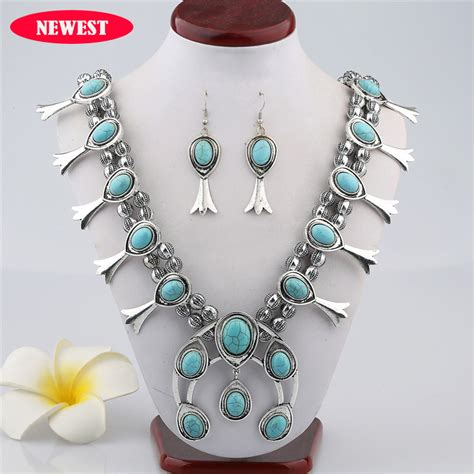 bead necklaces cheap 2015 new european manufacturers selling vintage turquoise