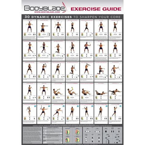 bodyblade 174 color wall chart