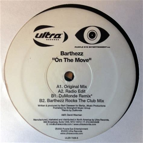 barthezz on the move barthezz on the move records lps vinyl and cds musicstack