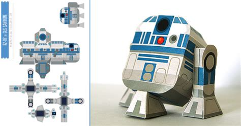 How To Make R2d2 Out Of Paper - mini papercraft r2d2 de gus santome toys un and dont