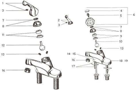 parts of a bathroom faucet delta lavatory faucet parts