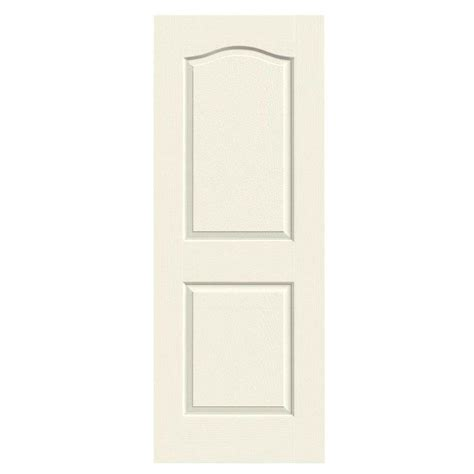 Jeld Wen Doors Interior Jeld Wen 36 In X 80 In Molded Textured 2 Panel Eyebrow Vanilla Solid Composite