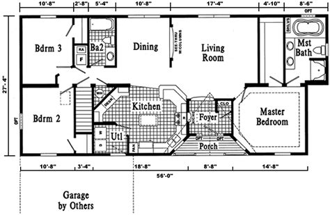 dover ranch style modular home pennwest homes model s