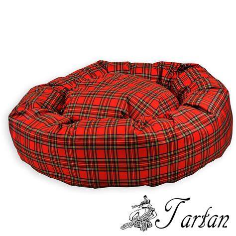 plaid dog bed tartan waterproof donut bed new pet beds direct