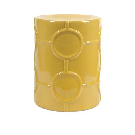 yellow garden stool essentials mellow yellow ceramic garden stool zuri furniture