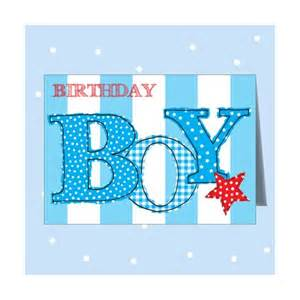 birthday boy blue card