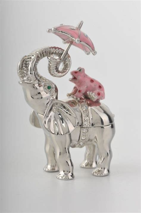elephant tattoo umbrella elephant with pink frog umbrella trinket box i love