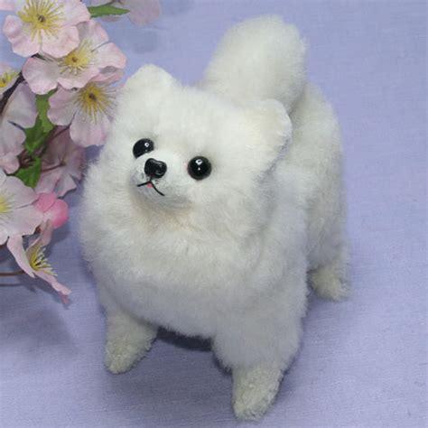 pomeranian stuffed animals ranran rakuten global market plush pomeranian ホワイトポメ