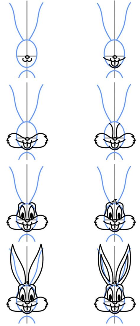 how to draw bugs bunny step by step easy 25 best ideas about bugs bunny on pinterest looney
