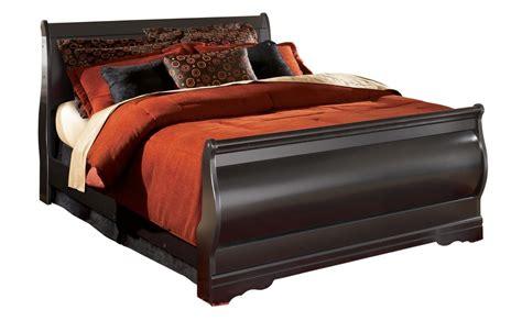 Black Sleigh Bed Huey Vineyard King Sleigh Bed In Black