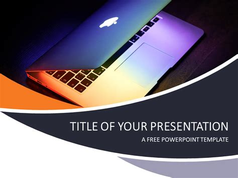 Technology And Computers Powerpoint Template Presentationgo Com Powerpoint Template About Technology