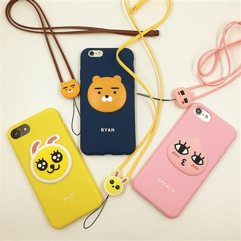 Silicon Korean Style For Iphone 6 fashion korean apeach for iphone 6 6s 7 8 plus soft silicon 3d phone
