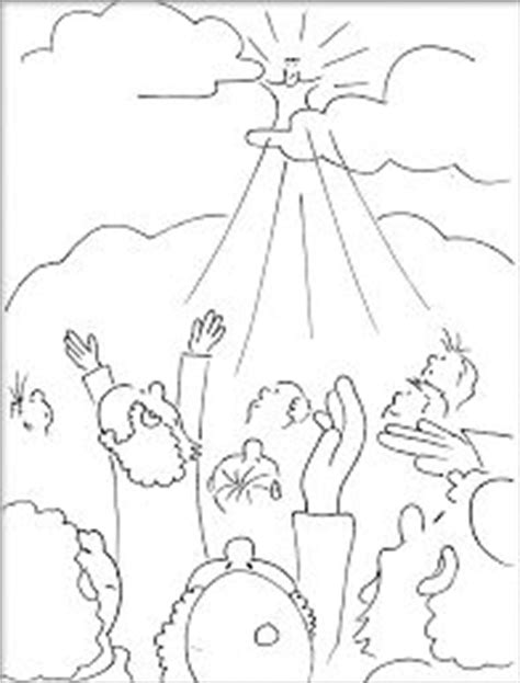 lds coloring pages second coming jesus returning color page jesus second coming