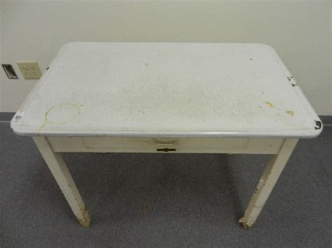 enamel top kitchen table w drawer quot napanee kitchenet quot