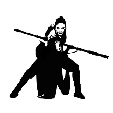 Star Wars Wall Stickers rey the force vinyl sticker car decal