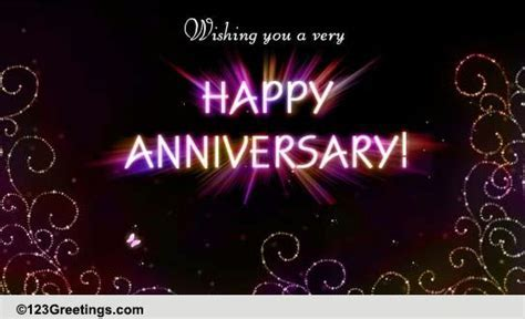 Sparkling Anniversary Wish  Free To a Couple eCards