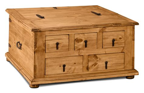Trunk Style Coffee Table Santa Fe Rusticos Solid Pine Trunk Style Coffee Table With Storage The Brick