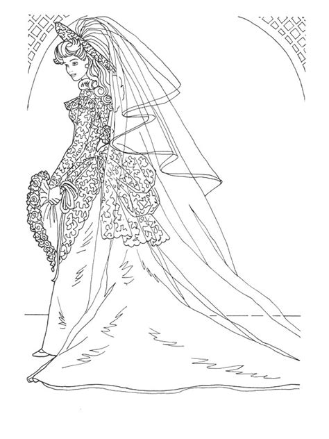 barbie coloring pages wedding gown barbie coloring pages