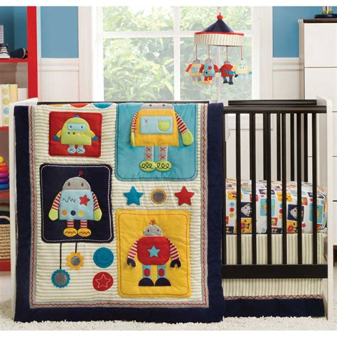Kidsline Crib Bedding Set by Kidsline Robots Play 4 Crib Bedding Set