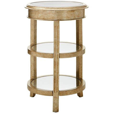 gold end table home decorators collection bevel mirror gold accent