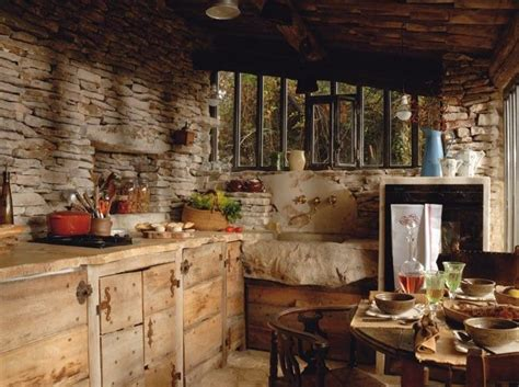 stone cottage kitchen     details