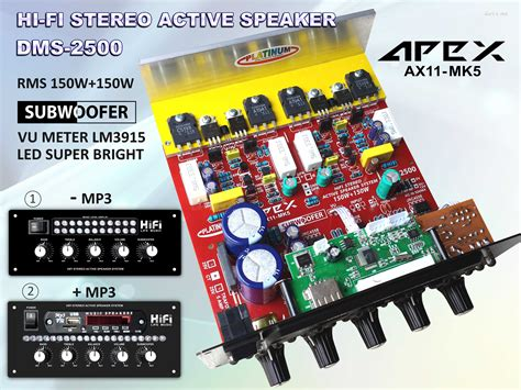 Stereo Active Speaker Dms 1200 kit home lifier active speaker modul audiobbm