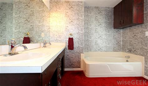 vinyl bathroom wallpaper what are the different types of wallpaper with pictures