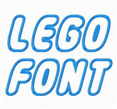lego applique machine embroidery font