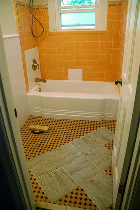 how to redo bathroom floor remodelaholic bathroom redo grouted peel and stick