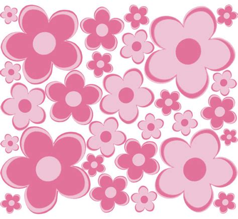 pink flower wall stickers small pink flowers wall stickers modern wall decals by rosenberry rooms