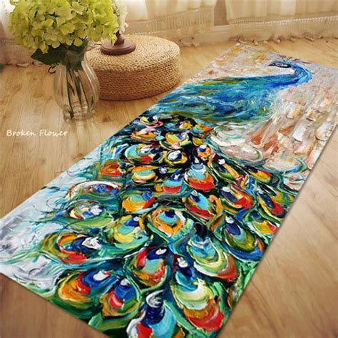 Peacock Bathroom Rug Popular Peacock Rug Buy Cheap Peacock Rug Lots From China Peacock Rug Suppliers On Aliexpress