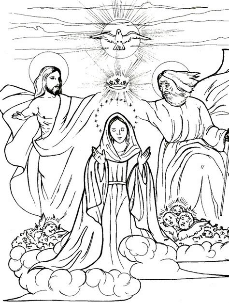 mother mary catholic coloring sheets coloring pages