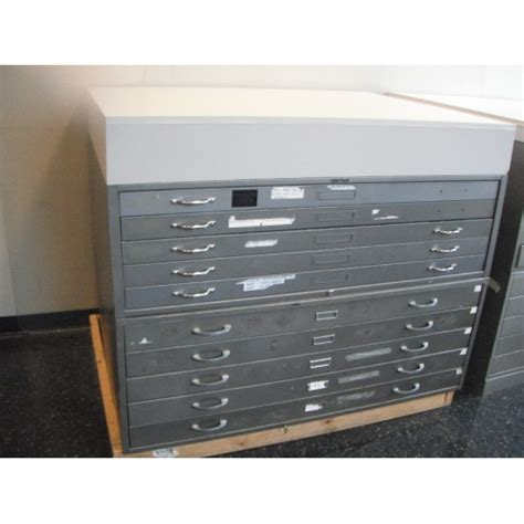 10 drawer map cabinet map cabinet 10 drawer with retainers and work surface