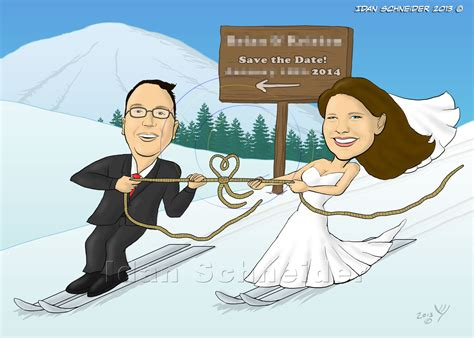 wedding invitations caricature drawings your personal cartoonist