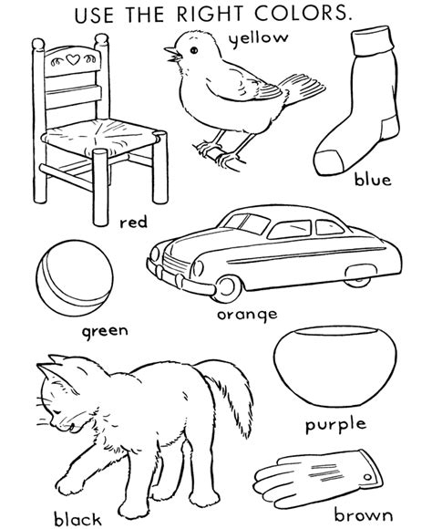 coloring coloring page objects to color by following the color numbers and coloring page objects to color homeschool